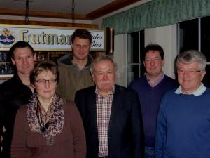Die neu gewählte Vorstandschaft (v.l. Bernd Kraus, Claudia Schmoll, Hermann Schneid, Dieter Früh, Roland Hier, Klaus Zischler)